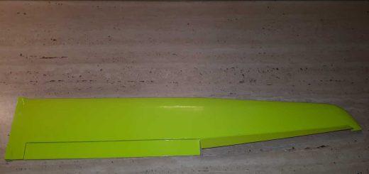Guppy V2 - Pravé křídlo potaženo