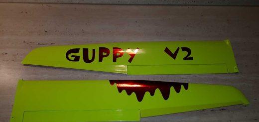 Guppy V2 - Povrchovka křídel